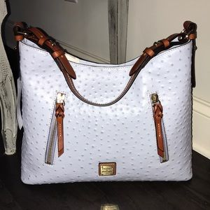 Dooney And Bourke glacier blue cooper hobo